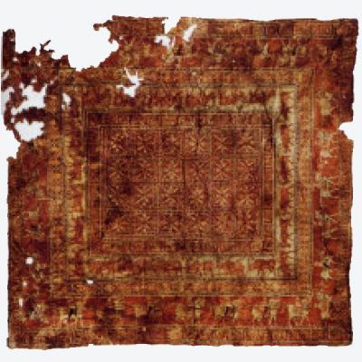 最古のペルシャ絨毯